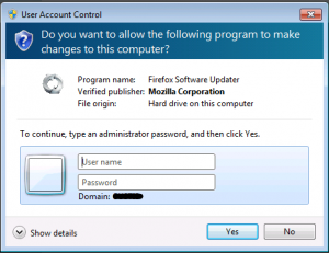 User Account Control Prompt